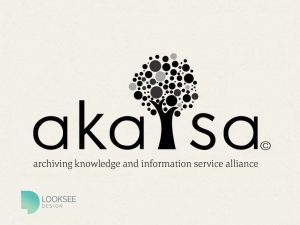 Akasia logo black and white