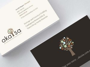 Akasia Business cards