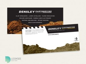 Densley Earthmoving With compliments card