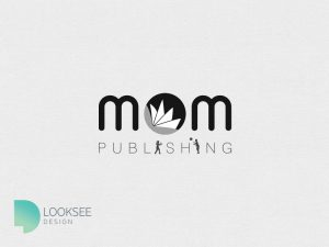 Mom's Publishing Logo black and white