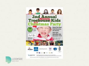 Treehouse Initiative 2nd Christmas Party Flyer