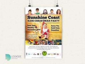 Sunshine Coast Christmas party flyer
