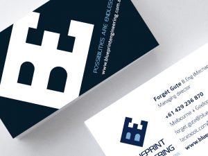 Blueprint Engineering Business cards