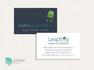 Leapfrog business card