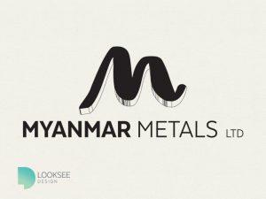 Myanmar Metals logo black and white