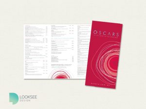 Oscars Restaurant menu