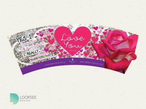 Love You Rose pot wrap