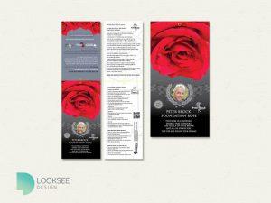 Peter Brock Foundation Rose label
