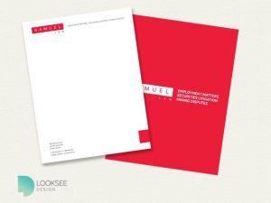 Samuel Law letterhead