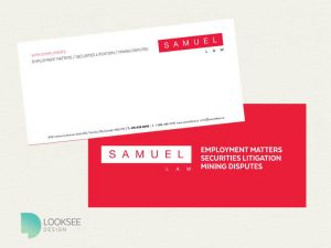 Samuel Law with compliments cards