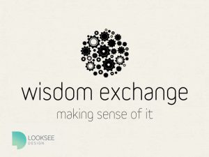 Wisdom Exchange Logo black and white
