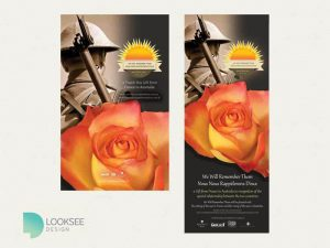 We Will Remember Them rose brochure