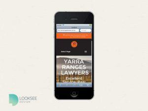 Yarra Ranges Lawyers website mobile
