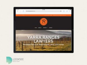 Yarra Ranges Lawyers site tablet view