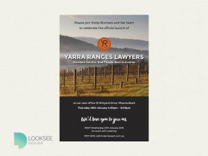 Yarra Ranges Lawyers launch invite